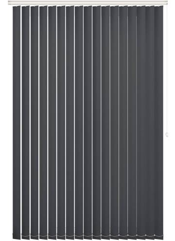Replacement Vertical Blind Slats Bella Blackout Dark Grey