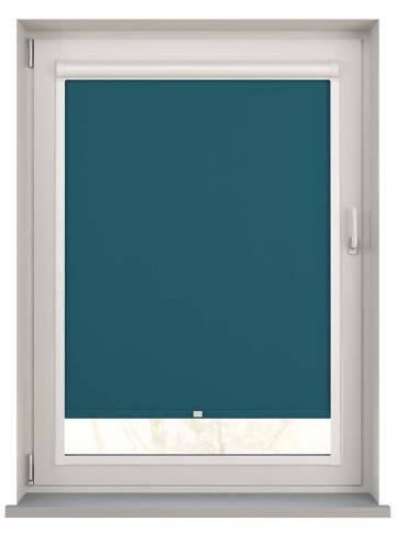 Perfect Fit Roller Blinds Bella Blackout Dark Teal Blue