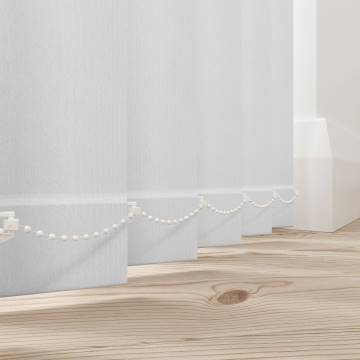 Replacement Vertical Blind Slats Bella Blackout Frost White