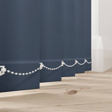 Vertical Blinds Bella Blackout Indigo Blue