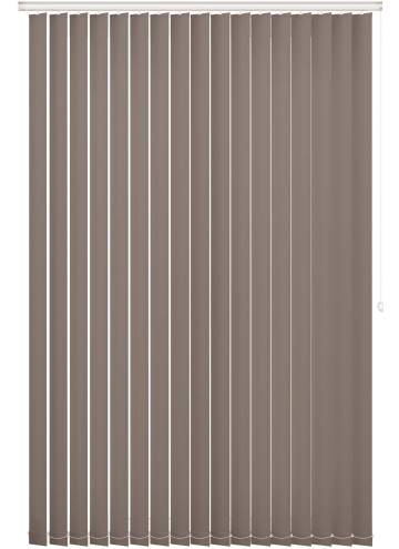 Replacement Vertical Blind Slats Bella Blackout Latte Brown