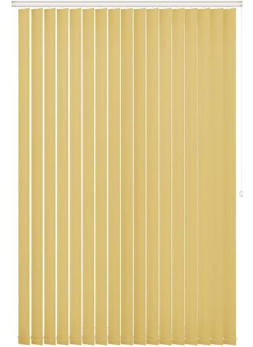 Vertical Blinds Bella Blackout Mellow Yellow