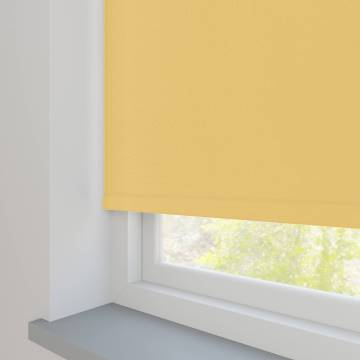 Electric Roller Blinds Bella Blackout Mellow Yellow