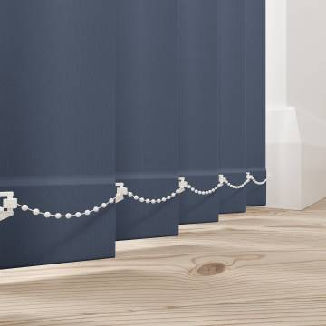 Vertical Blinds Bella Blackout Midnight Blue