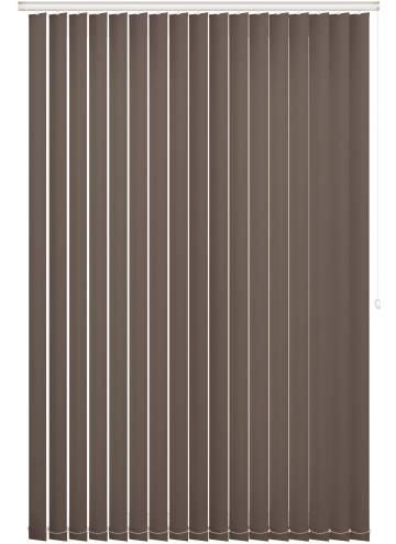 Vertical Blinds Bella Blackout Mushroom Brown