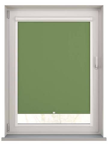 Perfect Fit Roller Blinds Bella Blackout Pear Green