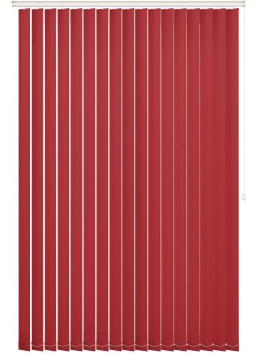 Replacement Vertical Blind Slats Bella Blackout Ruby Red