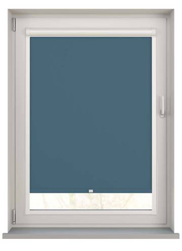 Perfect Fit Roller Blinds Bella Blackout Sapphire Blue