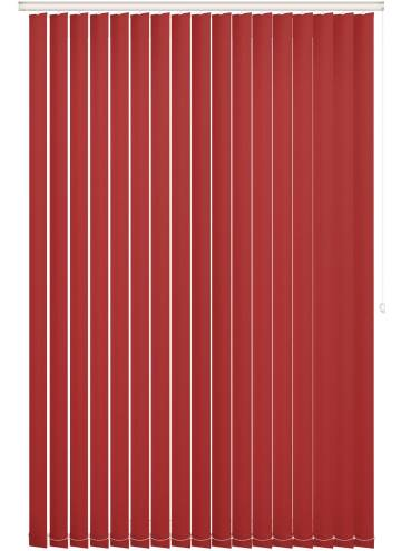 Replacement Vertical Blind Slats Bella Blackout Scarlet Red