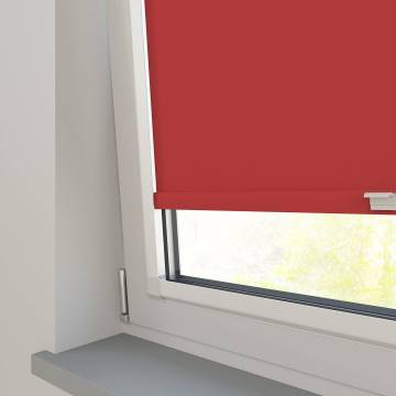 Perfect Fit Roller Blinds Bella Blackout Scarlet Red