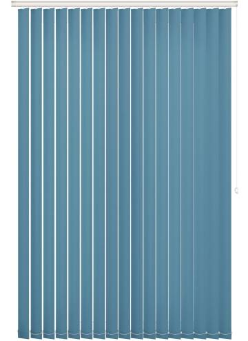Replacement Vertical Blind Slats Bella Blackout Smoke Blue