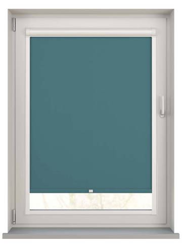 Perfect Fit Roller Blinds Bella Blackout Teal Blue