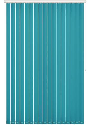 Replacement Vertical Blind Slats Bella Blackout Turquoise Blue