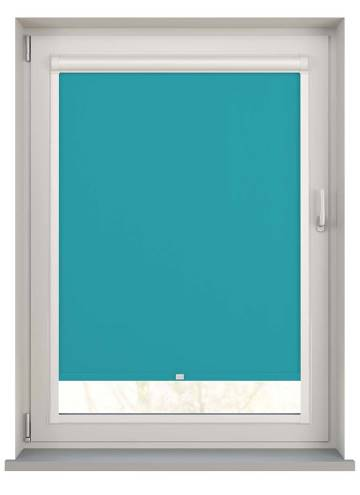 Perfect Fit Roller Blinds Bella Blackout Turquoise Blue