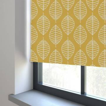 Electric Roller Blinds Boheme PVC Blackout Summer Yellow