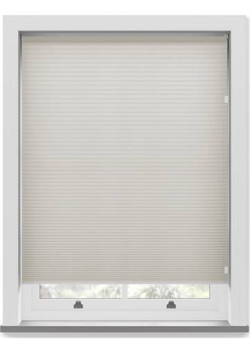 Pleated Free hanging Blinds Cellular Almond