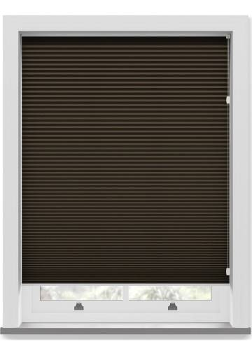 Pleated Free hanging Blinds Cellular Blackout Chocolate
