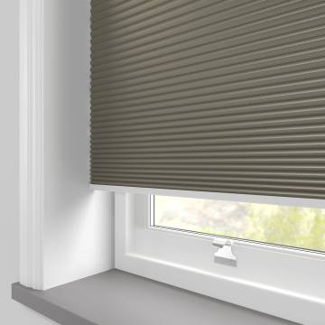 Pleated Free hanging Blinds Cellular Blackout Concrete