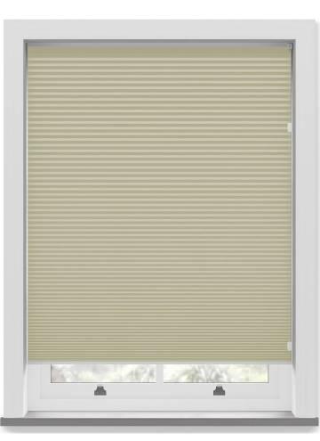 Pleated Free hanging Blinds Cellular Blackout Taupe