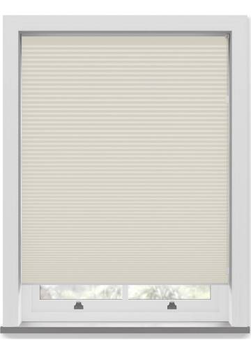 Pleated Free hanging Blinds Cellular Blackout Warm White