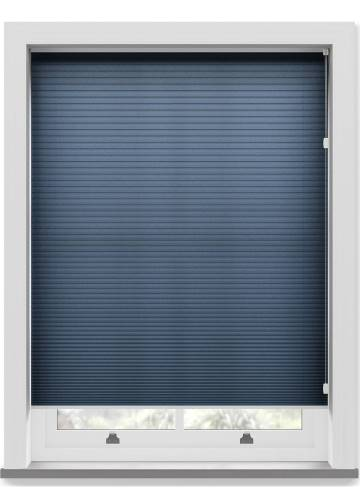 Pleated Free hanging Blinds Cellular Navy Blue