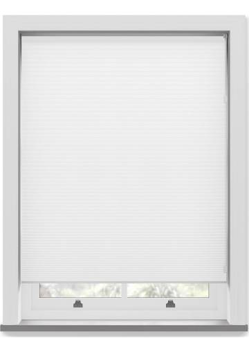 Pleated Free hanging Blinds Cellular Snowdrop White