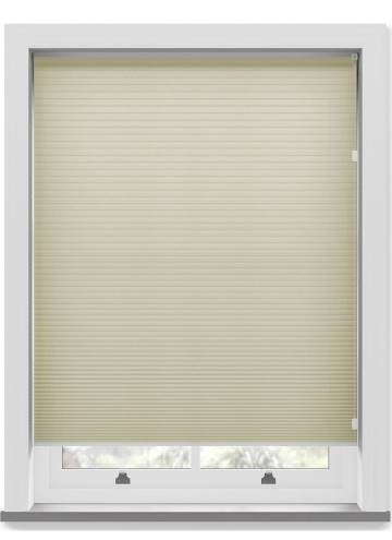Pleated Free hanging Blinds Cellular Taupe