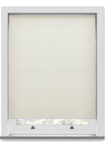 Pleated Free hanging Blinds Cellular Warm White