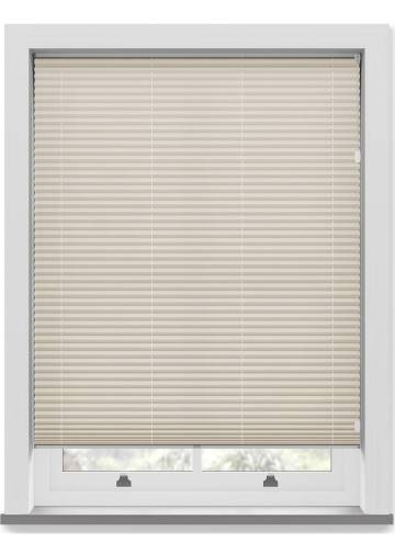 Pleated Free hanging Blinds Chateau Blockout Cool Beige
