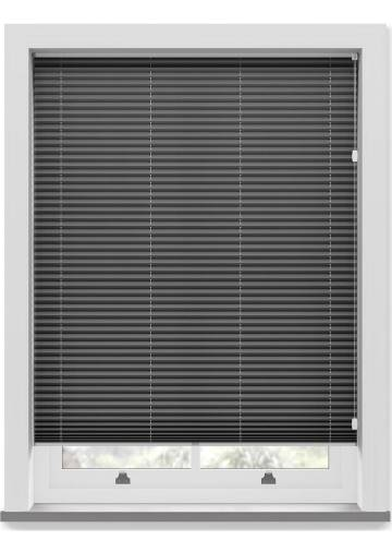 Pleated Free hanging Blinds Chateau Blockout Dark Grey