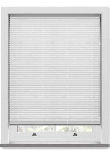 Pleated Free hanging Blinds Chateau Blockout White