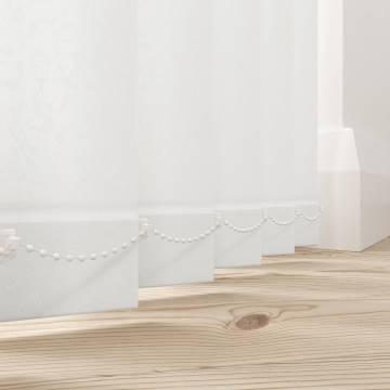 Replacement Vertical Blind Slats Cleo White