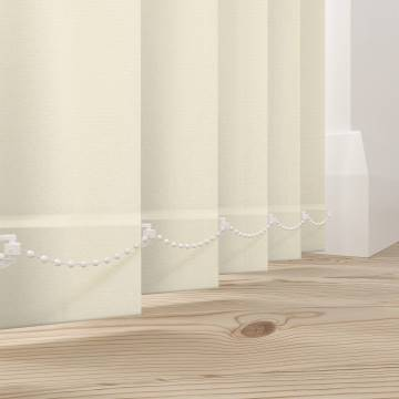 Replacement Vertical Blind Slats Cord Cream