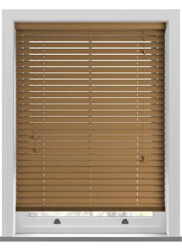 Wooden Blinds Deco Grained Amber