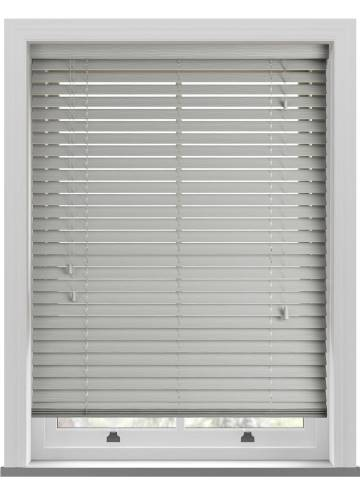 Wooden Blinds Deco Grained Dove Grey