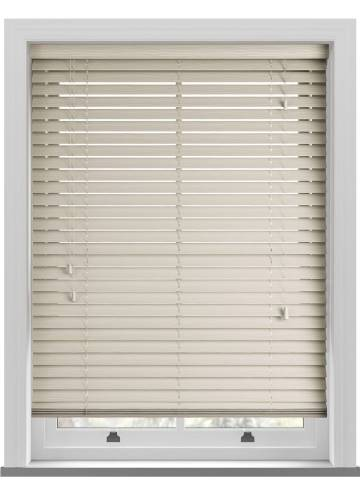 Wooden Blinds Deco Grained Mirage Cream