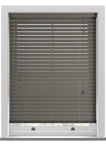 Wooden Blinds Deco Grained Pewter