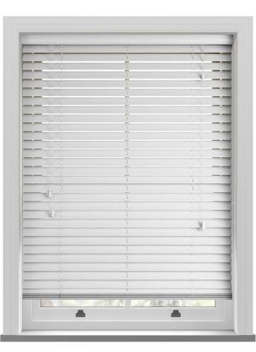 Wooden Blinds Deco Grained True White