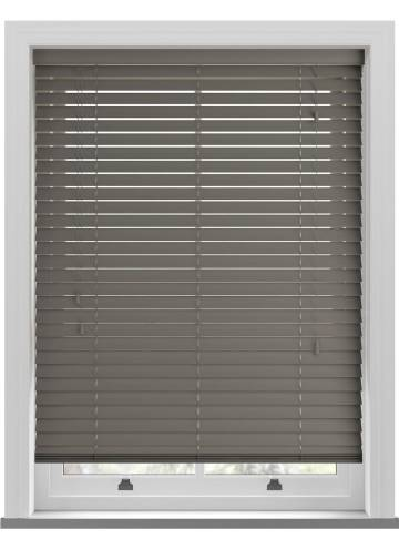 Wooden Blinds Deco Pewter