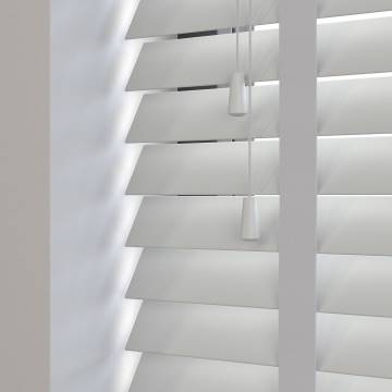 Wooden Blinds Deco Taped Dove Grey