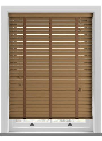 Wooden Blinds Deco Taped Grained Amber