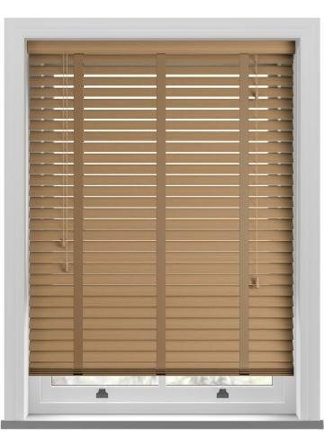 Wooden Blinds Deco Taped Grained Desert Oak