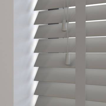 Wooden Blinds Deco Taped Grained French Grey