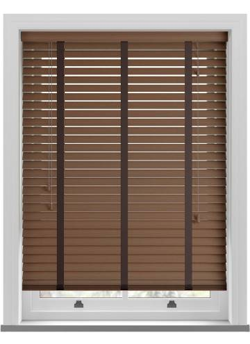 Wooden Blinds Deco Taped Grained Lima