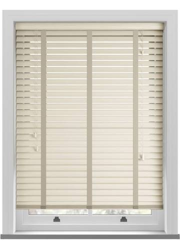 Wooden Blinds Deco Taped Grained Linara Magnolia
