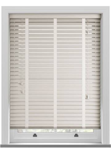 Wooden Blinds Deco Taped Grained Mirage Cream
