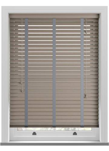 Wooden Blinds Deco Taped Grained Stratus