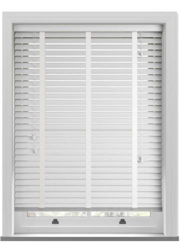 Wooden Blinds Deco Taped Grained True White