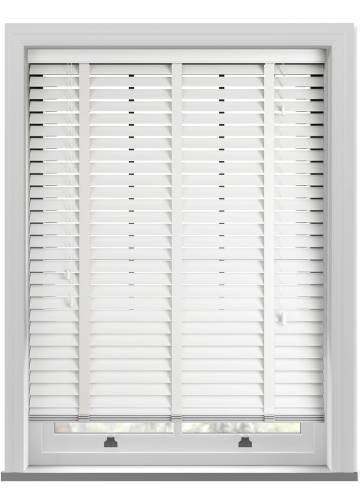 Wooden Blinds Deco Taped Ice White