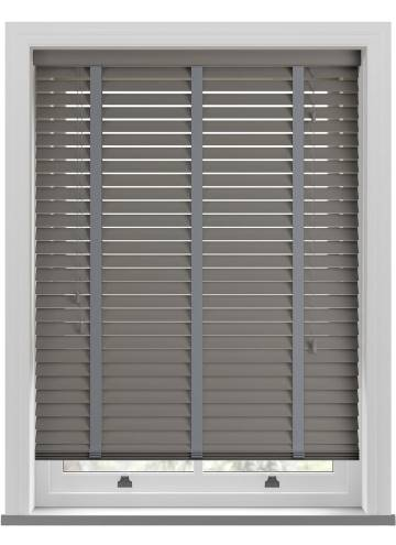 Wooden Blinds Deco Taped Pewter